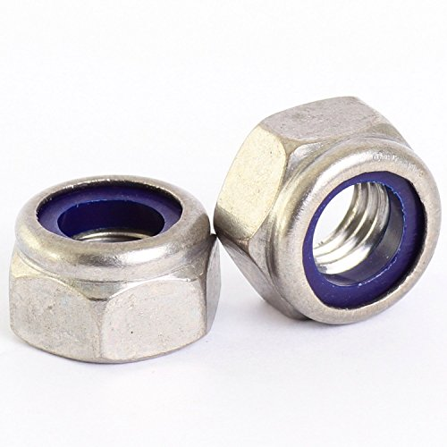 3mm Nylon Nuts (M3-0.5 / 3mm - Metric Nylon Insert Hex Lock Nut DIN 985 - A2-70 / 304 / 18-8 Stainless Steel - MonsterBolts (25))