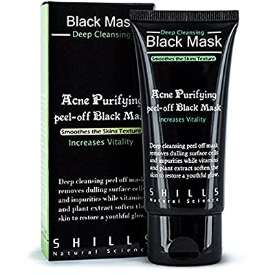 Blackhead Mask LuckyFine Blackhead Remover Cleaner Purifying Deep Cleansing Acne Black Mud Face Mask Peel-off