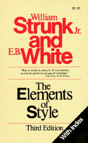 The Elements of Style (with Index) by Jr. William Strunk (1979-01-08)