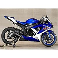 Blue White Injection Fairing Complete Kit for 2008-2010 Suzuki GSXR 600 750 2009