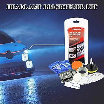 S WIDEN ELECTRIC Car Headlamp Brightener Kit Lampshade Scratch Polishing Tools Headlight Repair Coating Brightener Car, Truck,SUV
