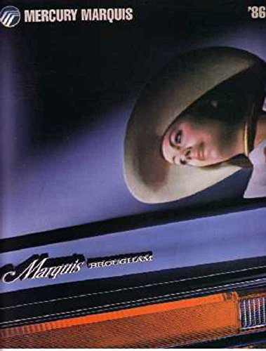 1986 Mercury Marquis Sales Brochure Literature Book Advertisement Options Specs