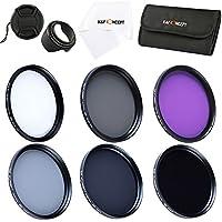 K&F Concept 72mm Lens Filter Kit Slim UV Slim CPL Slim FLD ND2 ND4 ND8 Neutral Density Circular Polarizing Lens Filters Set for Canon Nikon Simga Tamron Camera Lens