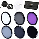 K&F Concept 72mm Lens Filter Kit Slim UV Slim CPL Slim FLD ND2 ND4 ND8 Neutral Density Circular Polarizing Lens Filters Set for Canon Nikon Simga Tamron Camera Lens