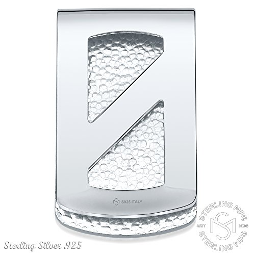 Sterling Silver .925 Dollar Sign Money Clip. Designed and Made In Italy. By Sterling Manufacturers by Sterling Manufacturers (Image #3)