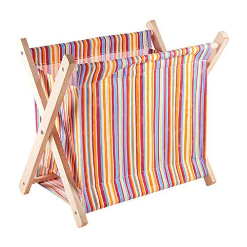 (PH PandaHall Fold-Up Wooden Yarn Arts Caddy Organization Storage Tangle Free Yarn Caddy Bag Organizer Folding Basket for Knitting, Yarn, Crotchet)