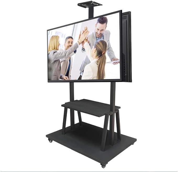 Soporte de TV móvil Trolley Carrito de actualización de Doble Pantalla Soporte de 50-75 Pulgadas LCD Soporte Giratorio Altura Ajustable de Montaje de TV para televisores LCD LED: Amazon.es: Hogar