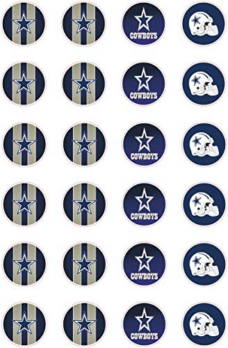 (Set of 24 Dallas Cowboys Adhesive Sticker NFL Footbal Birthday Parties 2