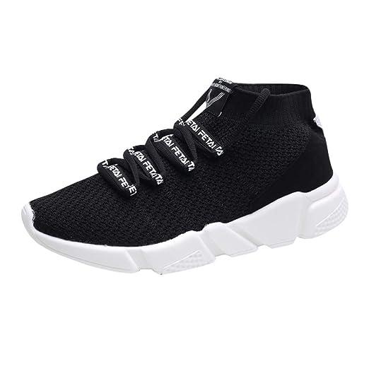 Moda masculina con letras, elásticas, deportivas, planas, de tobillo, zapatos de