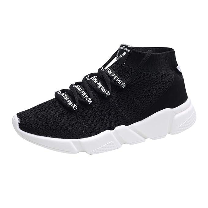 4797949bcca60 Amazon.com: HOSOME Mens Running Shoes Fashion Letter Elastic Sport ...
