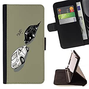 DEVIL CASE - FOR Samsung Galaxy A3 - Funny Darth Beetle Car - Style PU Leather Case Wallet Flip Stand Flap Closure Cover