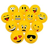 Emoticon Emoji Face Beach Balls 16-inch, set of 12