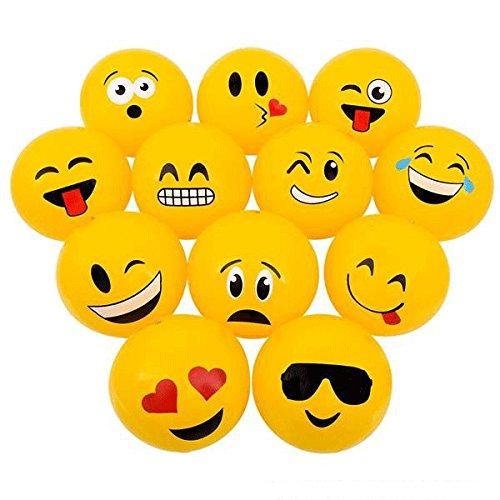 Emoticon Emoji Face Beach Balls 16-inch, set of 12 by Party Supplies