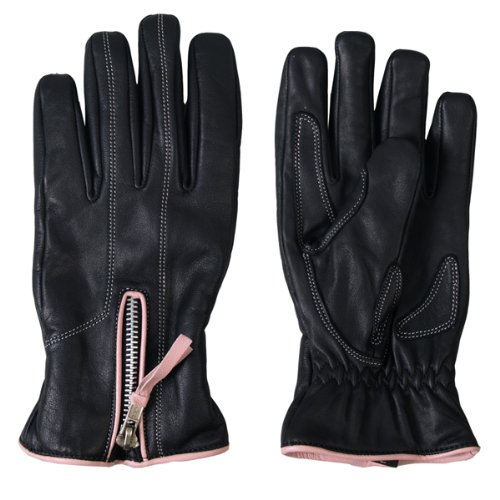 Ladies Piping - Hot Leathers Women's Driving Gloves with Pink Piping (Black/Pink, Medium)