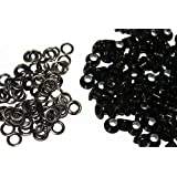 100 x 4mm Gun Metal Eyelets Grommets with Washers for Clothes and Leather Crafts in Arts and Sewing Projects - Ideal for Bags, Scrapbooking and Cloth Repair by Trimming Shop