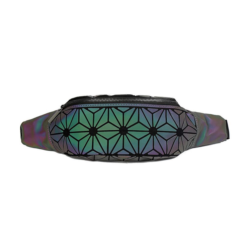 Ri/ñonera hologr/áfica Luminosa para Mujer Verde Green No.3 Talla /única DIOMO
