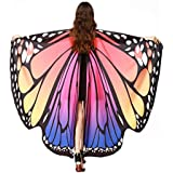 Women Butterfly Wings Shawl Fairy Halloween Party Prop Lady Nymph Pixie Costume