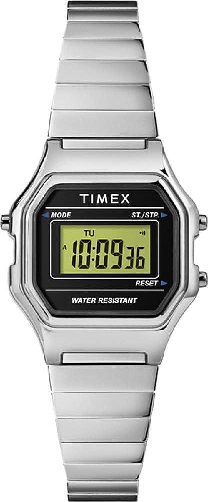ded0dd6032 Amazon | [タイメックス]TIMEX クラシック デジタル ミニ シルバー TW2T48200 レディース 【正規輸入品】 |  レディース腕時計 | 腕時計 通販