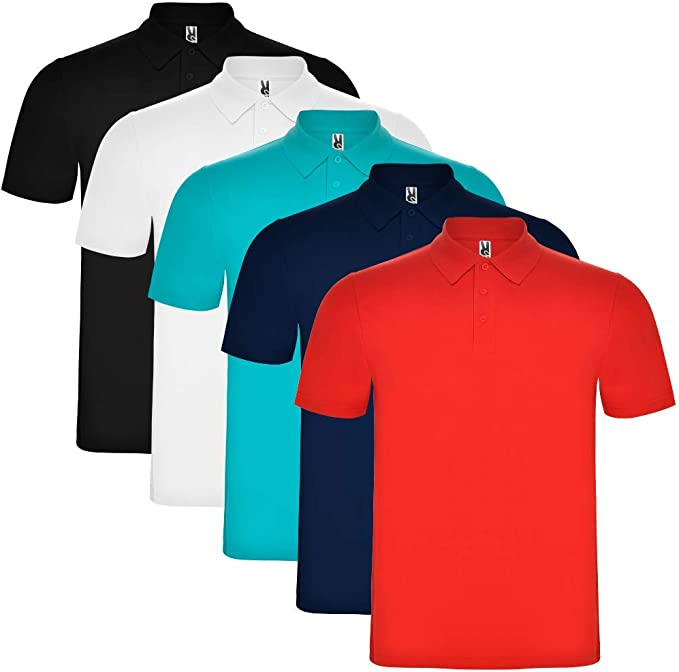 ROLY Pack de 5 Polo para Hombre, 100% algodón, Austral: Amazon.es: Ropa y accesorios