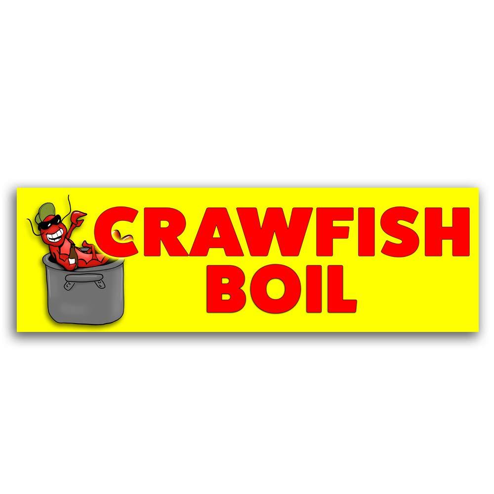 Crawfish Boil Vinyl Banner 8 Feet Wide by 2.5 Feet Tall