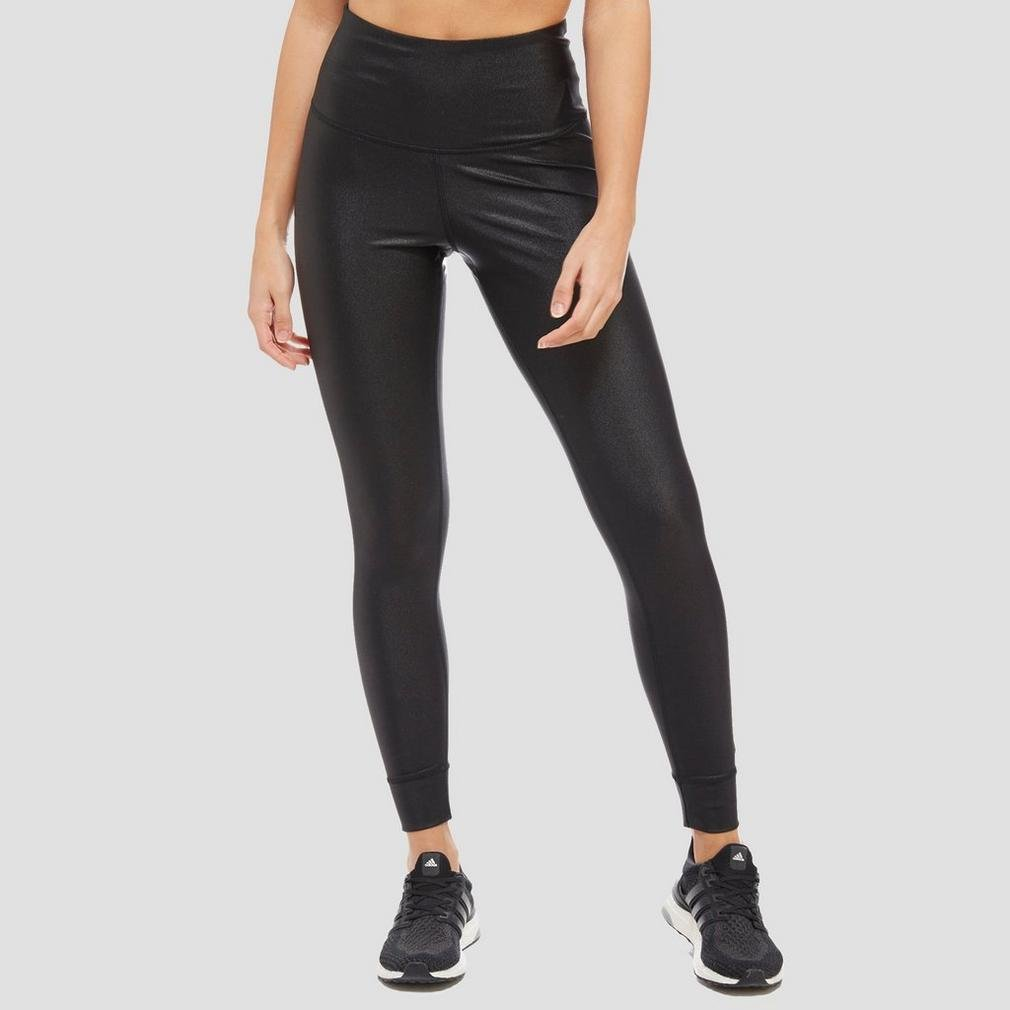 0f2ef5950f Reebok Metallic HIGH Rise Women's Leggings, Black, M: Amazon.co.uk ...