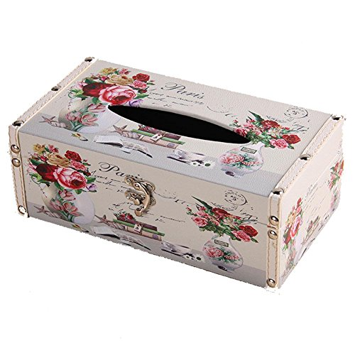 Rectangular PU Leather Facial Tissue Box Home Office Decor , suits 2 , 24138.5 by YANXH home (Image #4)
