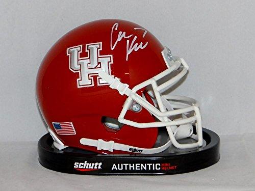 Case Keenum Autographed White University of Houston Cougars Mini Helmet - JSA W Auth
