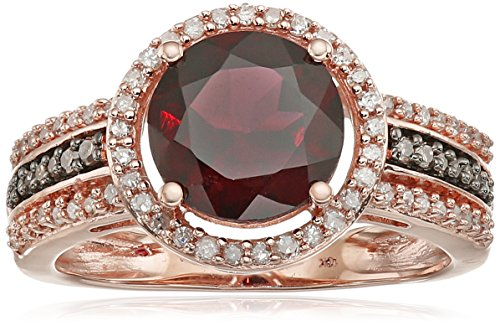 Rhodolite Champagne Diamond Fashion Clarity
