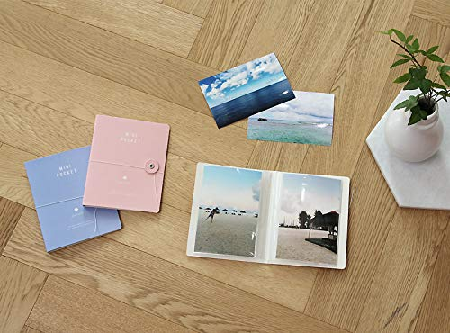 There's Mini Pocket Photo Album Pack of 4, Each Mini Photo Album Holds Up to 40 4x6 Photos, Photo Album Memory Book, 20 Page 4 x 6'' Photos, 5.1'' x 0.3 x 6.4'', (Pack of 4) by There's (Image #4)