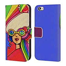 Official Howie Green Pop Sunglasses Ladies Abstract Leather Book Wallet Case Cover For Apple iPhone 4 / 4S