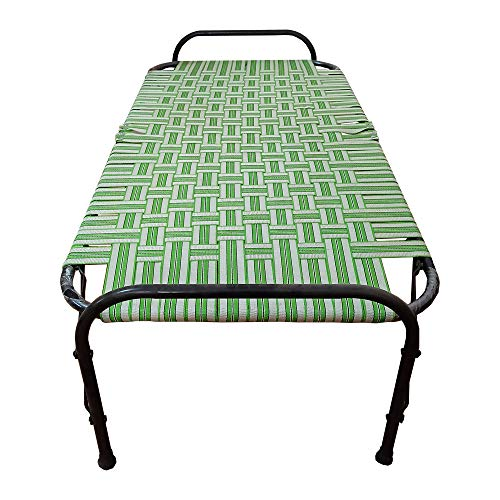 AARAM CHARPAI UDYOG Niwar Folding Bed Single Small Size (2.5X6 ft) | Portable Bed
