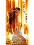 bn0412 Happy Hour Sexy Lady Nude Pub Bar Party Dating Dance Beer Banner Sign