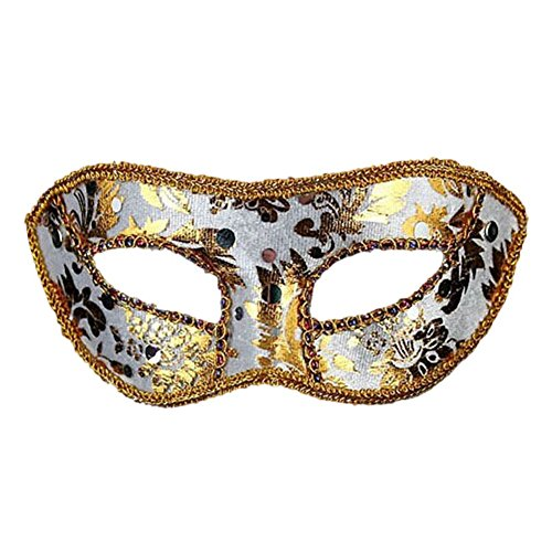 QLAN Masquerade Mask Halloween Mask with Removable One Size,Custom (Custom Face Masks For Halloween)