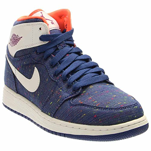Jordan Nike Kids Air 1 Retro High GG Deep Royal Blue/White/Prpl DSK/Hypr Basketball Shoe 7 Kids US