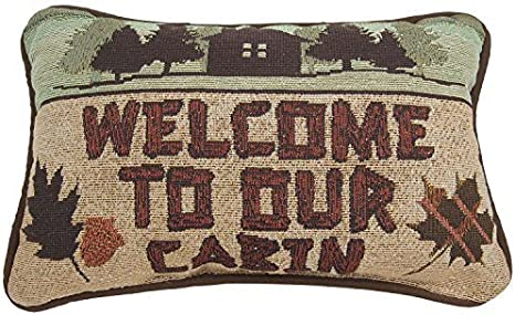 Manual Call Of The Wild Throw Pillow 12 5 X 8 5 Inch Welcome To Our Cabin Home Kitchen