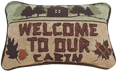 Manual Call of the Wild Throw Pillow, 12.5 X 8.5-Inch, Welcome to Our Cabin