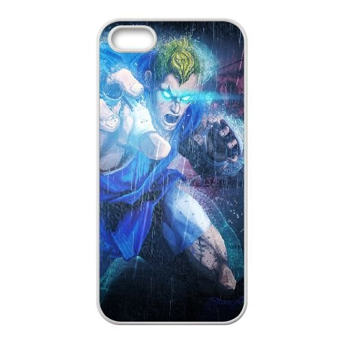 Street Fighter X Tekken Abel Magic Eyes Rain coque iPhone 5 5s cellulaire cas coque de téléphone cas blanche couverture de téléphone portable EEECBCAAN03979