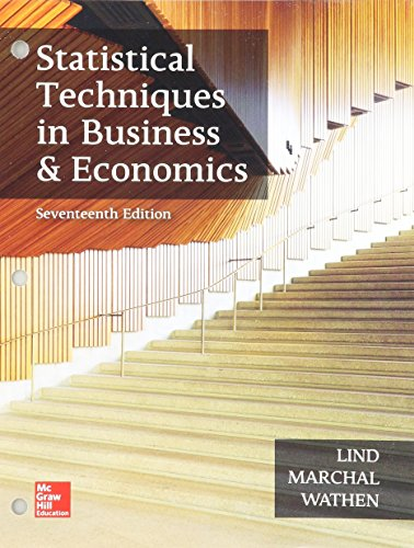 Book cover from GEN COMBO LL STATISTICAL TECHNIQUES IN BUSINESS AND ECONOMICS; CONNECT AC by Douglas A. Lind