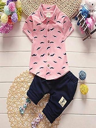 Pantalons AIMEE7 Manteau 0-24 Mois Vetements Bebe Gar/çon Pas Cher Ensemble B/éb/é Gar/çon Naissance Ete Barbe Outfit Blouse Gar/çon Manche Courte Haut Chemise Sweat T-Shirt Tops