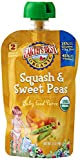 Earth's Best Baby Puree, Squash Sweet Pea, 3.5 Ounce