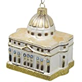CDL-GLASS BLOWN 5'' Saint Peter's Basilica Ornaments travel memorabilia St Peters Cathedral Vatican City Italy souvenir Christmas gifts Building Ornaments((5'',St Peters Cathedral G50)