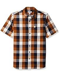 8d4fd576f10b Men s Big and Tall Big   Tall Essential Plaid Open Collar Short Sleeve Shirt