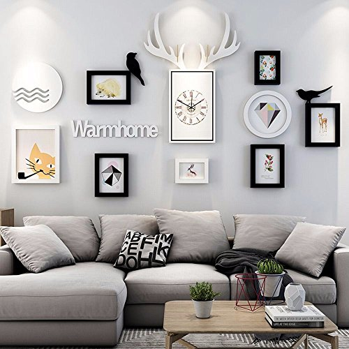 WUXK The Nordic watch photo wall decoration living room wall photo frame wall restaurant creative combination photo frame wall photo Wall 4 by WUXK