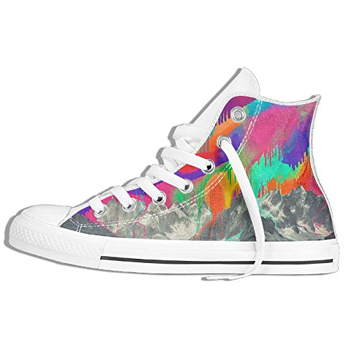 b1dd9f42a3 Scarpe Da Ginnastica Sneakers Alte In Tela Di Pizzo Alto Scarpe Da ...