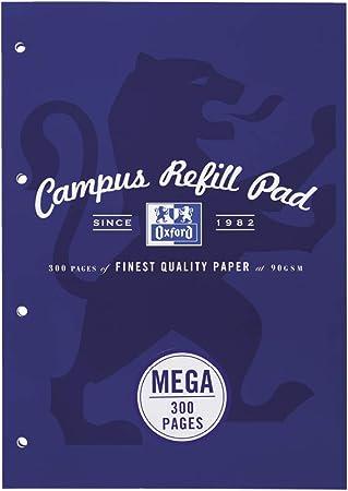 confezione da 3 Blocco di ricarica A4 colori pastello 140 pagine Oxford Campus