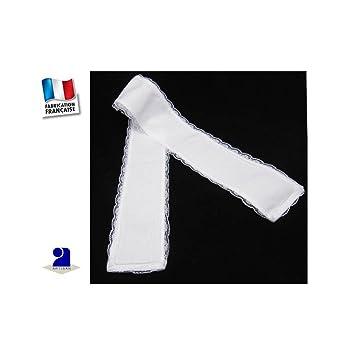 Poussin bleu - Etole de baptême, bords dentelle Couleur - Blanc ... 4ab8d9e7e83