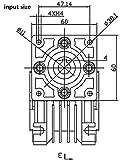 NMRV-030 Speed Reducer Ratio 80:1 Worm Gear High