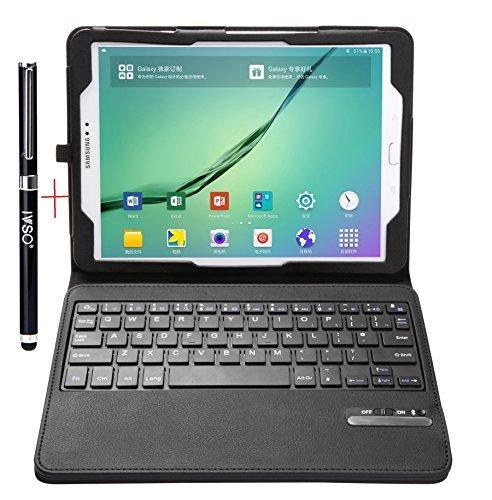IVSO Samsung Galaxy Tab S2 9.7 Keyboard case - Ultra-Thin Detachable Bluetooth Keyboard Stand Case/Cover for Samsung Galaxy Tab S2 9.7 Tablet -with Free Stylus Pen(Black)