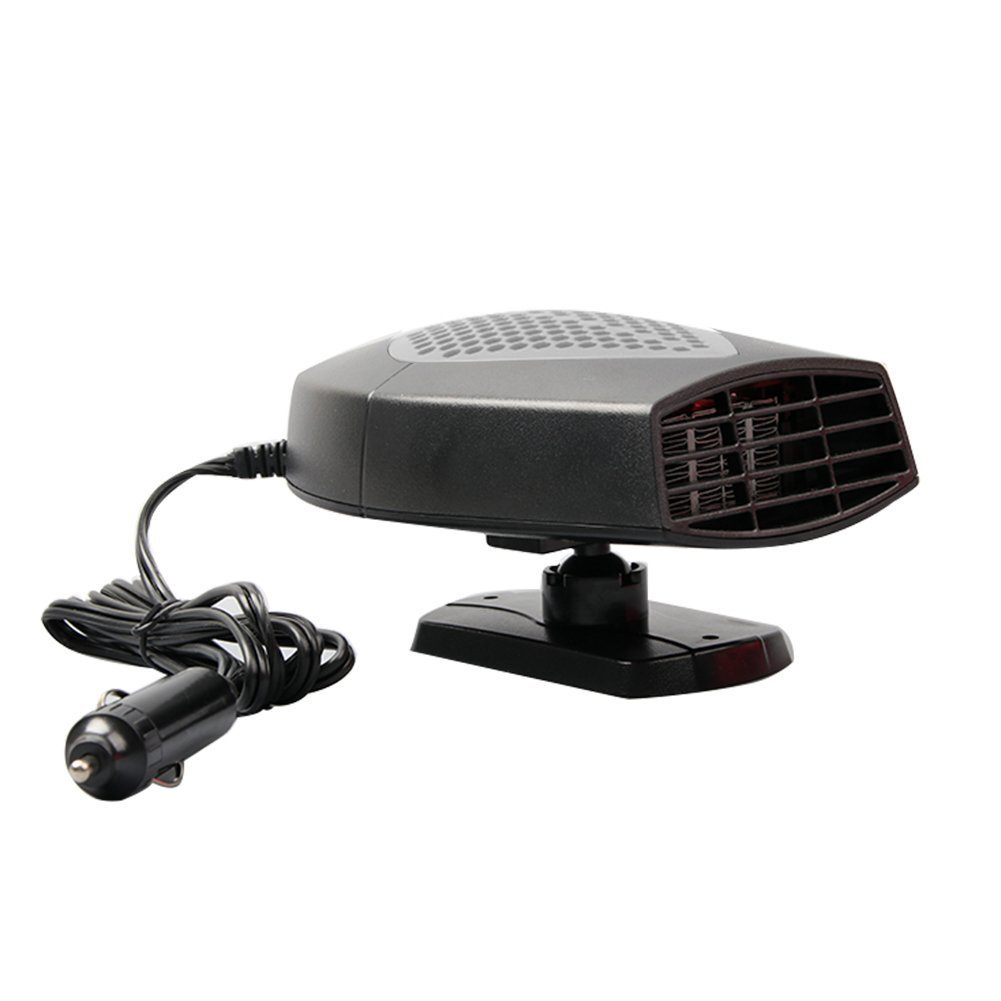 Portable Car Heater 12v Car Fan Heater Automobile Heater Warmer and Defroster Car Fan Heater Automobile Heater Removing Fog & Defrosting Defroster for Easy Snow Removal (gray)