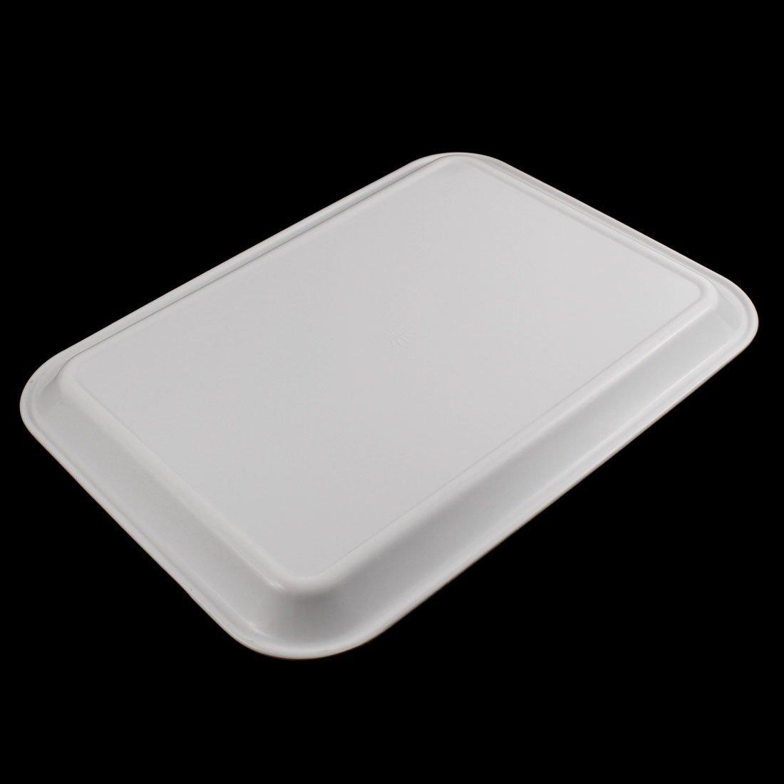 Amazon.com: DealMux Plastic Restaurante Retângulo alimentos em forma de Bandeja 17 polegadas Comprimento: Kitchen & Dining